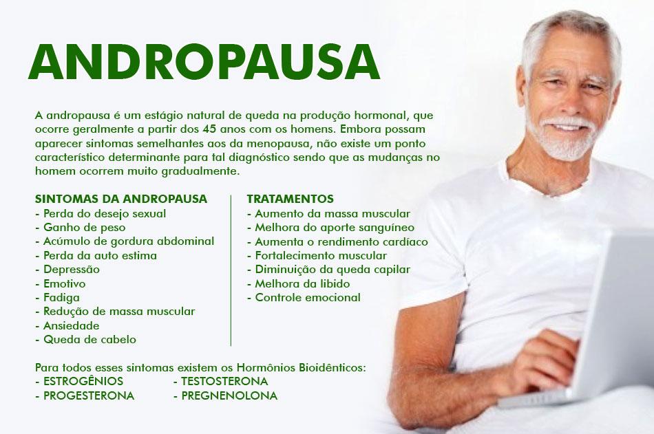 Sintomas e diagnóstico da Andropausa