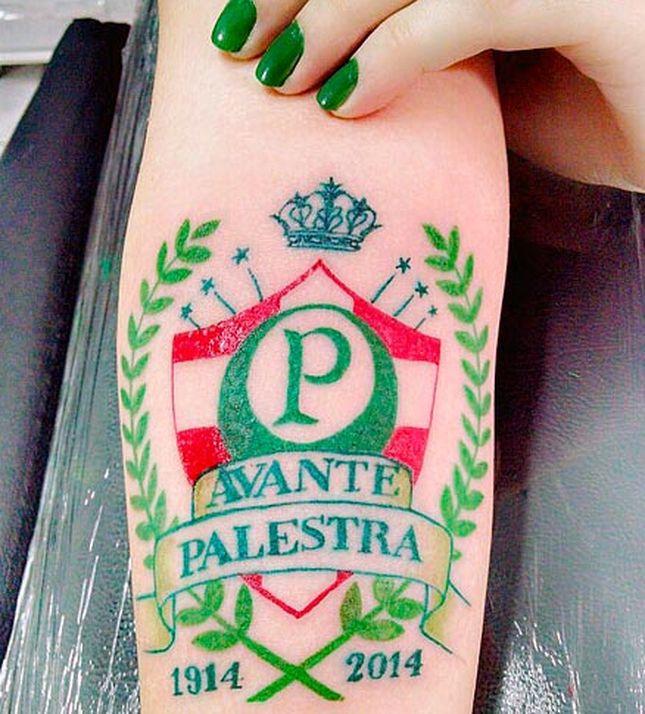 Tatuagens do Palmeiras no braço